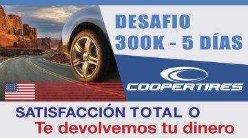 Tienes 300k o 5 días para probar tu neumáticos.