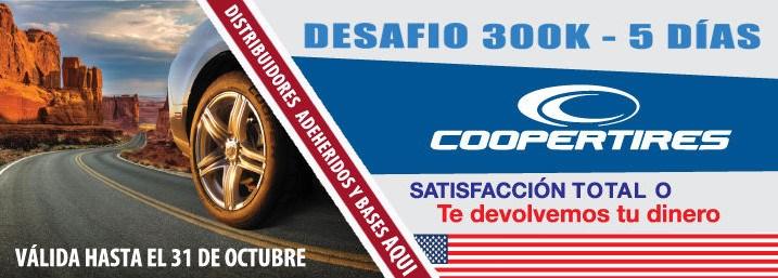 Cooper Tires - promoción 300k